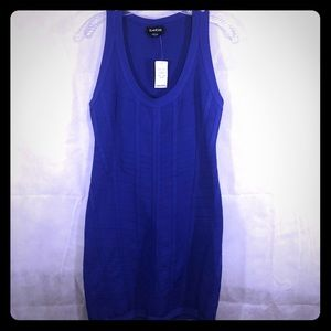 Bebe royal blue bodycon bandage dress